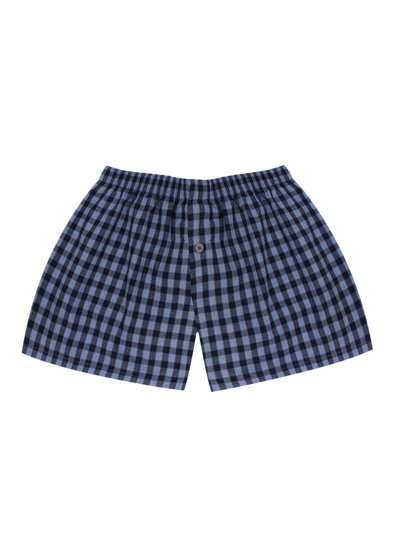 Comfortable Blue Checks Woven Boxer Shorts