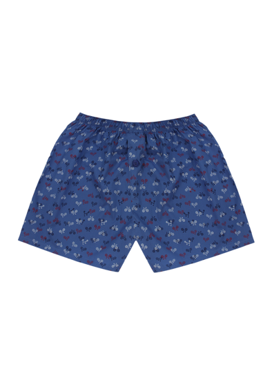 Comfortable Lazy Bicycles Woven Boxer Shorts