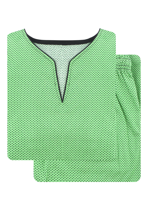 Women's Premio Cotton Exotic Green Long Sleeves Night Suit