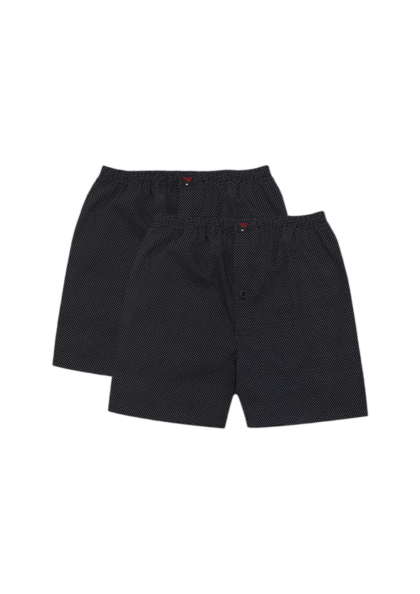Comfortable Very Black Woven Boxer Shorts Pair Pack