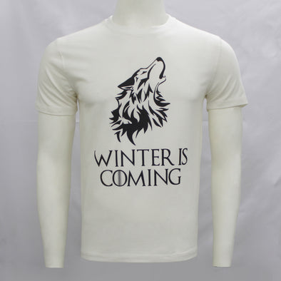 Winter Is Coming White Short Sleeves Tee Shirt