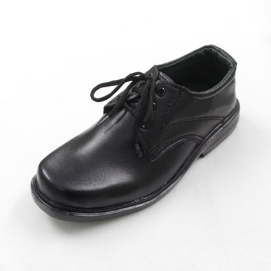 Comfortable Black Lace Up School Shoes