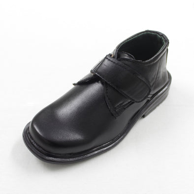 Comfortable Black Strapped Boy's School Shoes