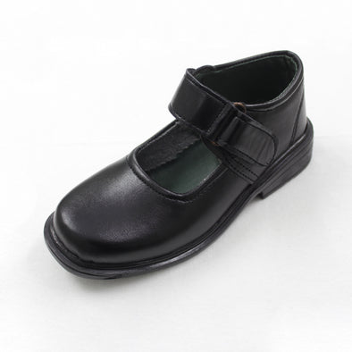 Comfortable Black Strapped Girl's School Shoes