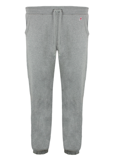 CL Cropped Bottom Heather Grey Ribbed Sweat Pants