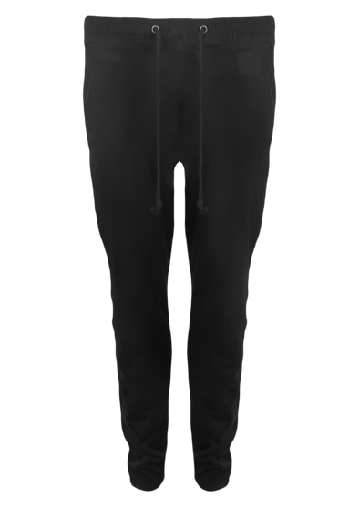 CL Cropped Bottom Black Ribbed Sweat Pants
