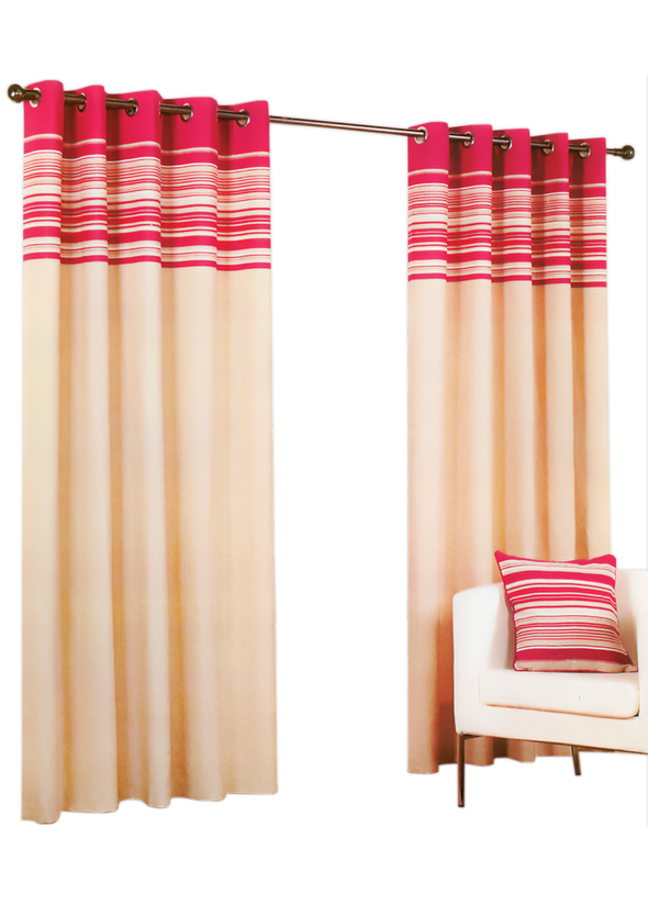 Hamond Red Pair Pack Ring Curtains