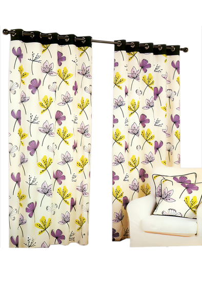 Lenchester Heather Pair Pack Ring Curtains