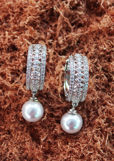 Silver Cubic Zircon Earrings