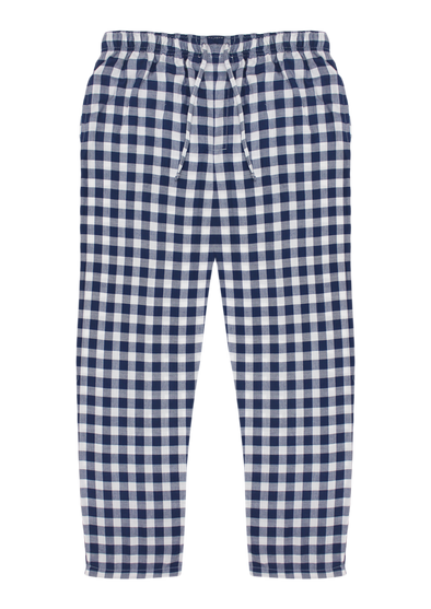 Pure Cotton White Checks Lounge Pants