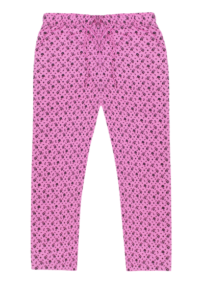 Women's Premio Cotton Pink Floral Lounge Pants