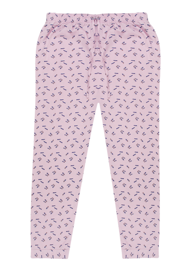 Women's Premio Cotton Baby Pink Lounge Pants