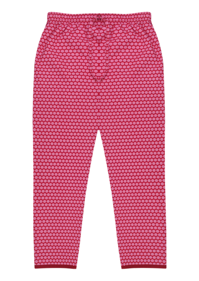 Women's Premio Cotton Shocking Pink Lounge Pants