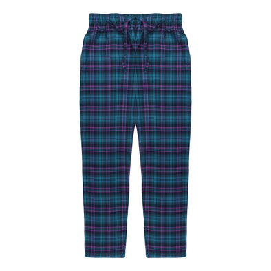 Women's Premio Cotton Mauve & Aqua Lounge Pants