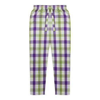 Women's Premio Cotton Lime & White Lounge Pants