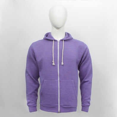Purple Zip Through Hoodie