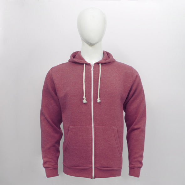 Red Zip Through Hoodie