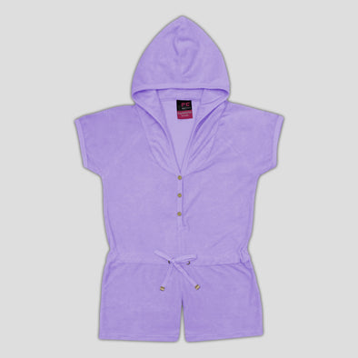 Purple Hooded Bodycon Dress