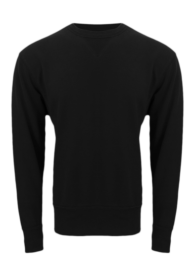 CL V-Notch Black Long Sleeves Sweatshirt
