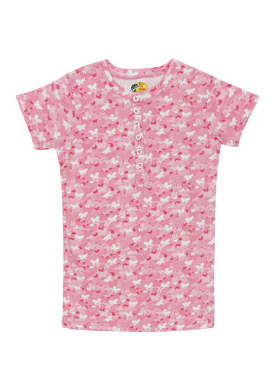 CL Pink Butterflies Short Sleeves Top