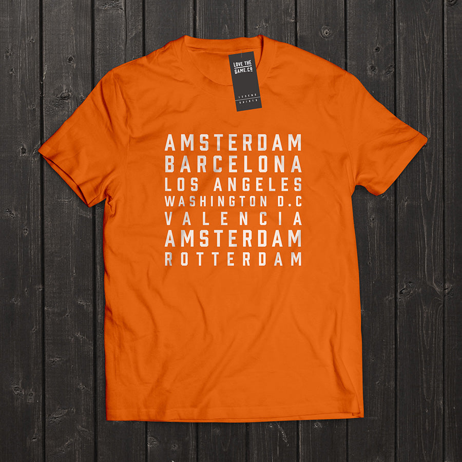 Love The Game : Johan Cruyff Tshirt. Shipping in 48 hrs worldwide.