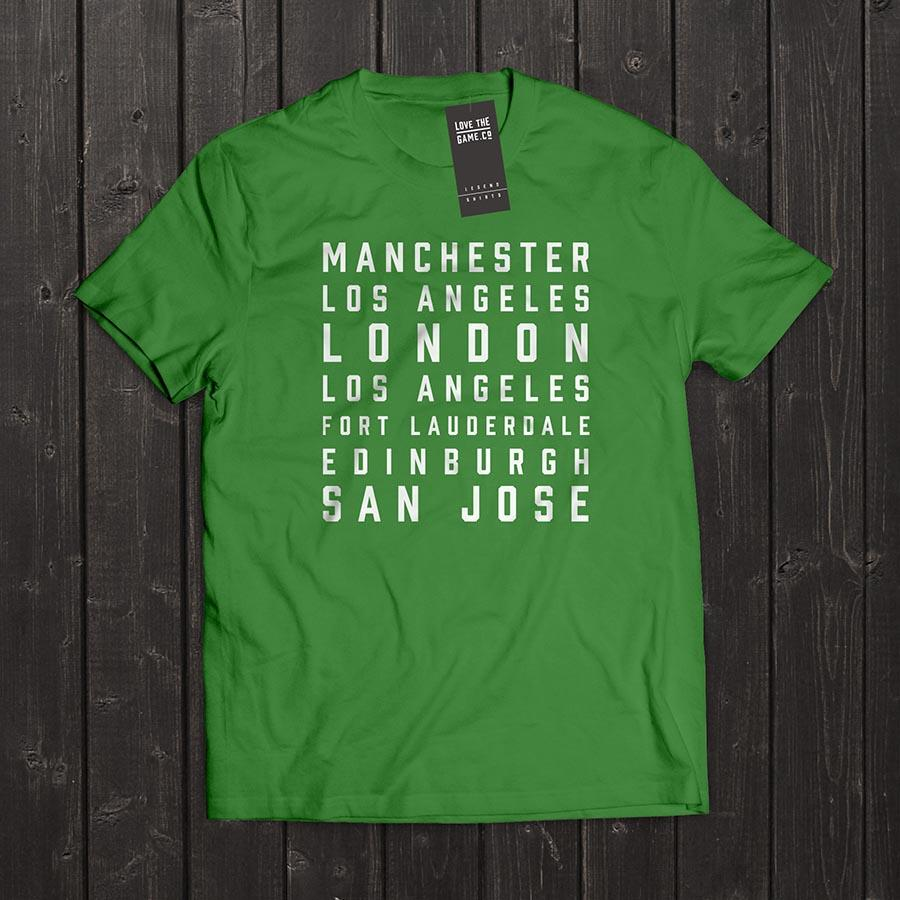 Love The Game : George Best Tshirt. Shipping in 48 hrs worldwide.