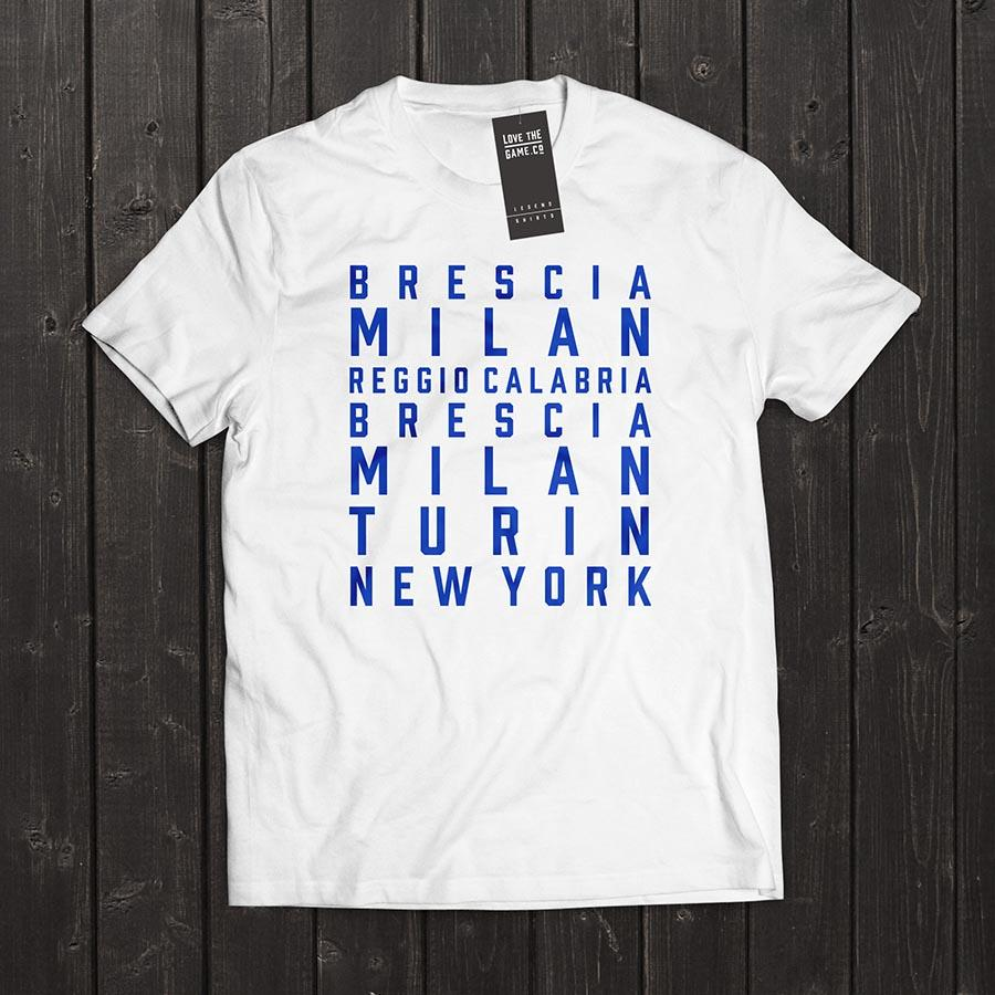 Love The Game : Andrea Pirlo Tshirt. Shipping in 48 hrs worldwide.