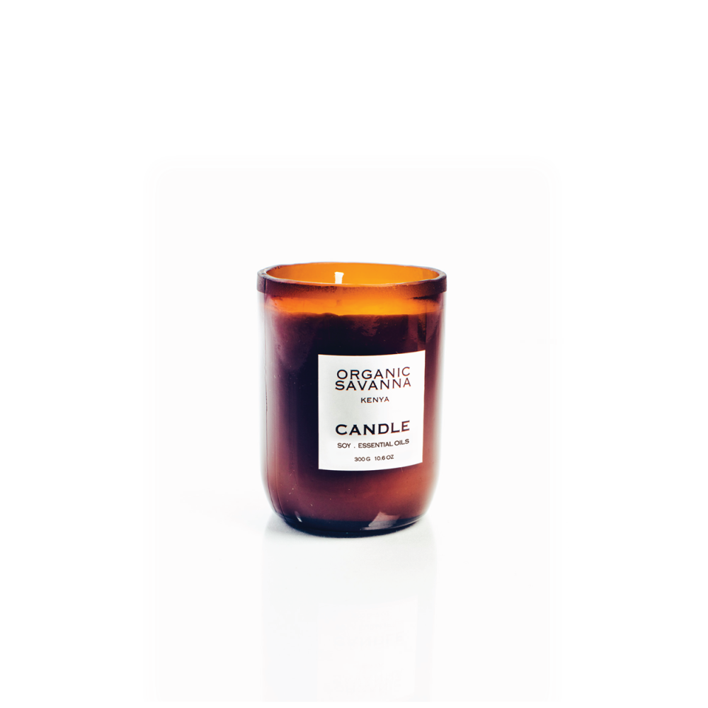 Soy Orange Oil Candle from Upcycled Glass (200g)