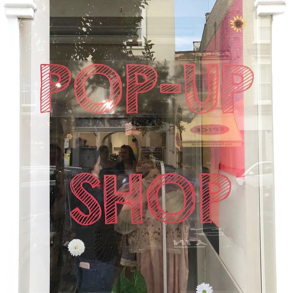 Pop up shop front windown