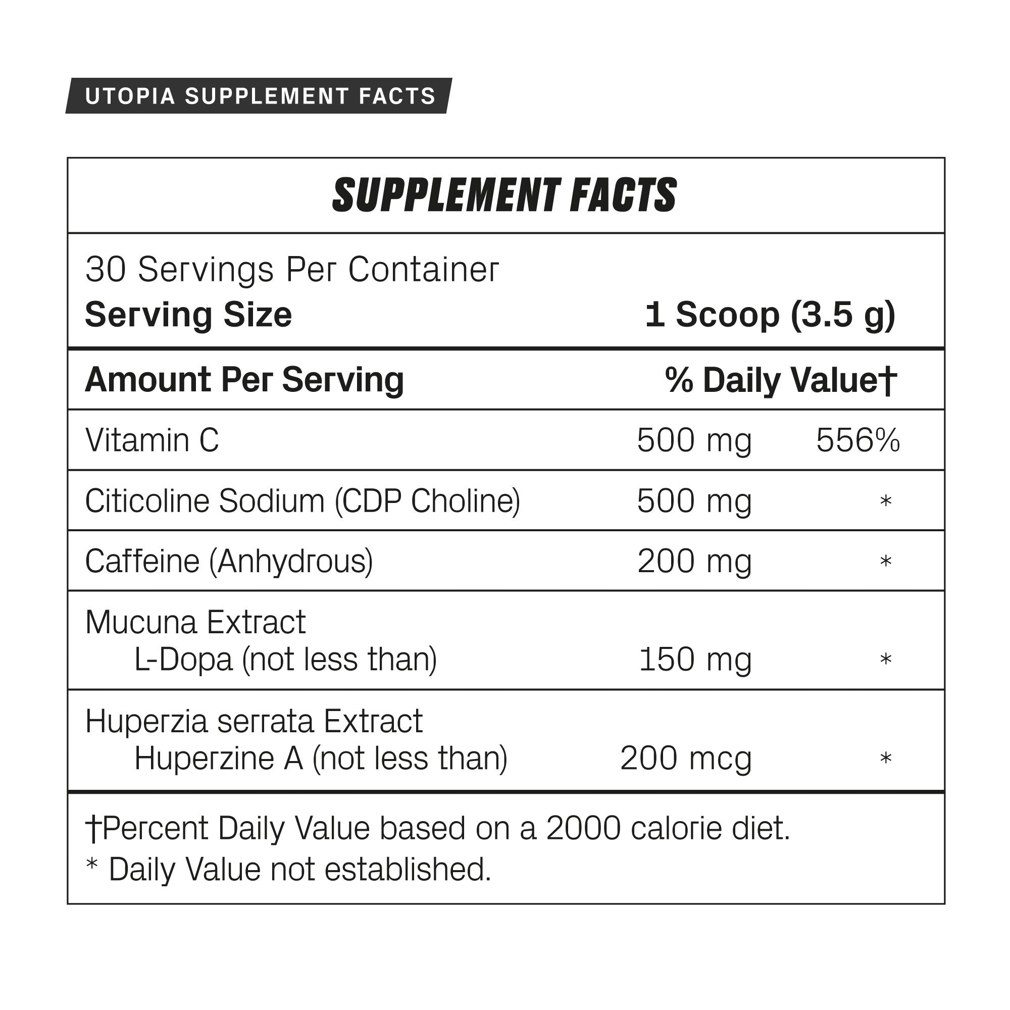 Utopia - Nootropic - De Novo Supps