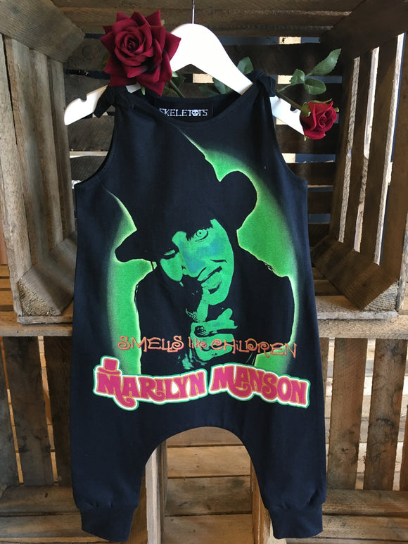 Marilyn Manson band tee romper