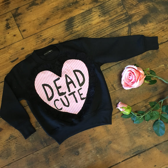 Skeletots Dead cute love sweatshirt baby girl kids