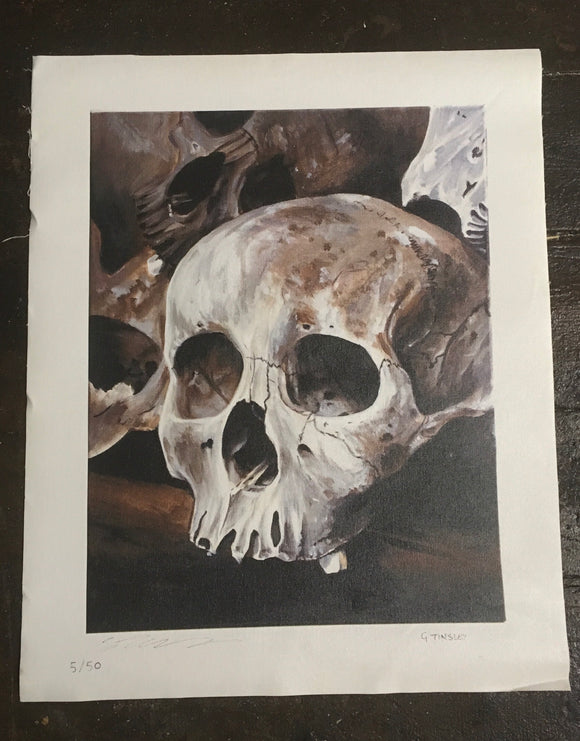 Skull print on canvas limited edition