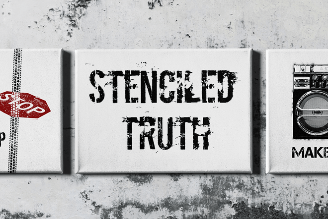 Stenciled Truth