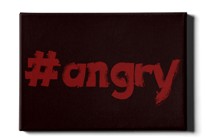 #angry motivational art canvas print