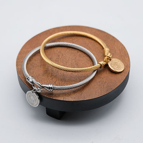 St. Benedict Wire Bangle ( BUY 1 TAKE 1 )