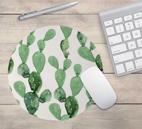 Cactus Watercolor Mouse Pad