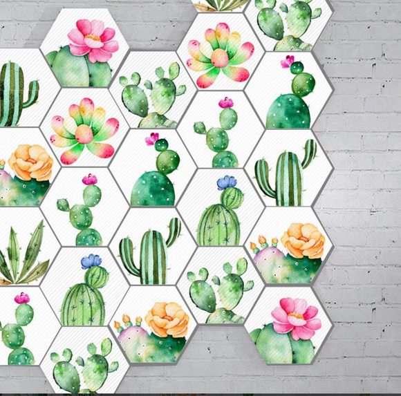 Tropical Plant Cactus Nordic Style Wall Stickers (10 Pcs)