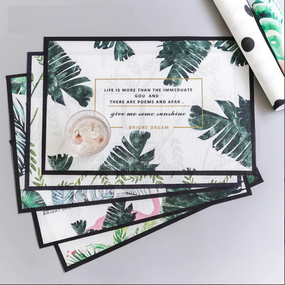 Green Plant Placemats