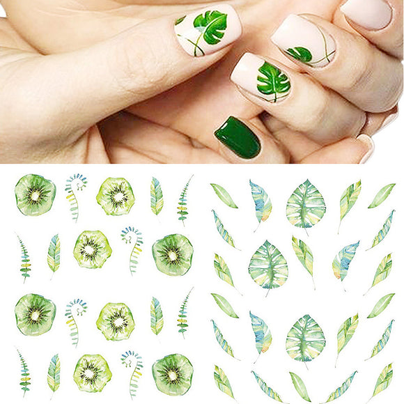 New Plant Series Nail Stickers
