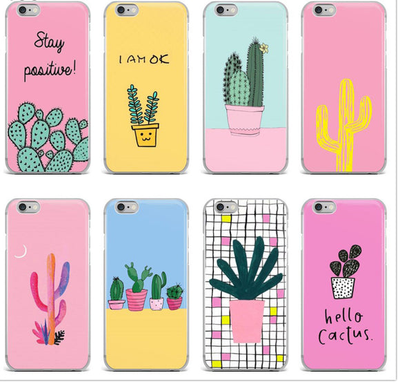 Tropical Plant Cactus Soft Silicone Phone Case