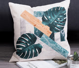 Cactus Pillow Case Gray Decorative
