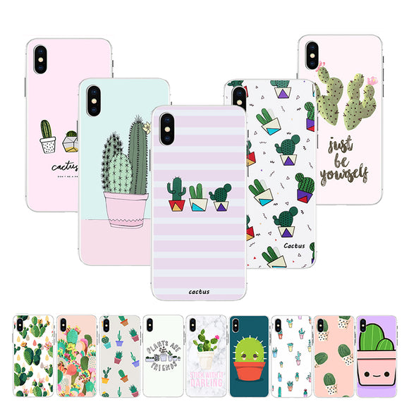 Fashion Stripe Cactus Phone Case