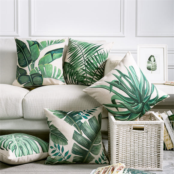 Tropical Leaf Pillow Case