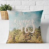 Vintage Green Plant Pillow Case 45cm*45cm