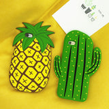 3D Silicone Cactus&Pineapple iPhone Case
