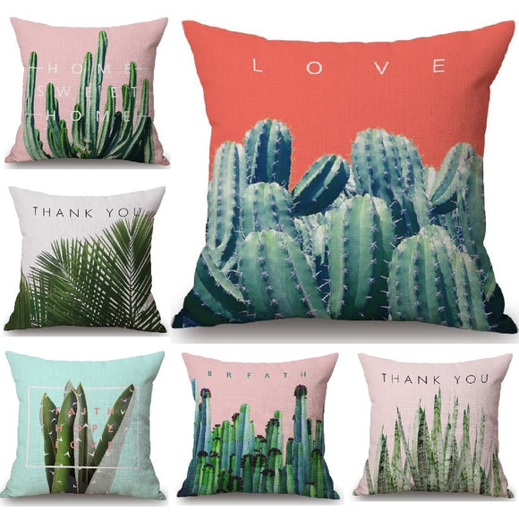 Tropical Design Pillow Case