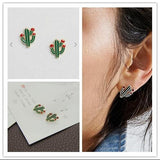 Cactus Designed Earrings