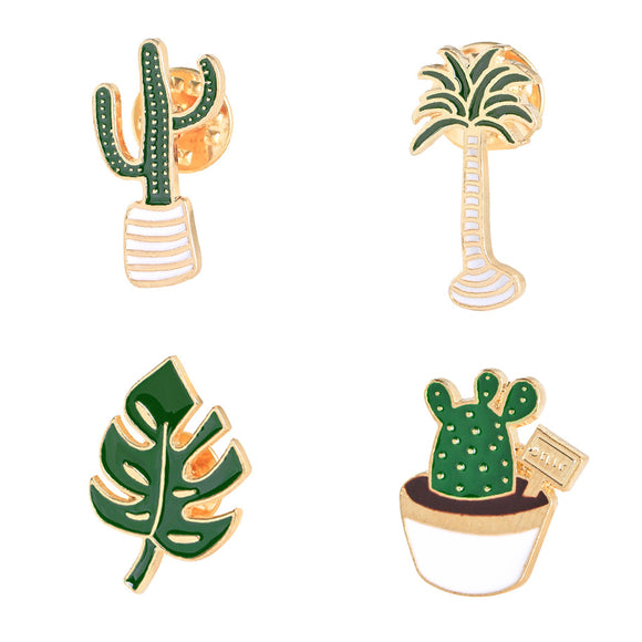 Cactus & Succulent Designed Brooches