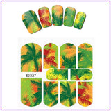 Tropical Leaves Nail Art Sticker